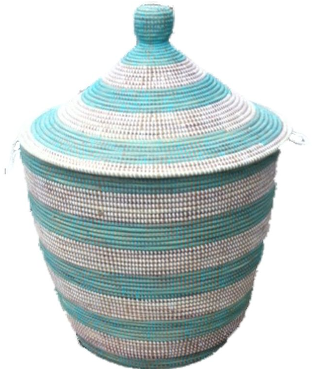Alibaba Turquoise strip laundry in 3 sizes