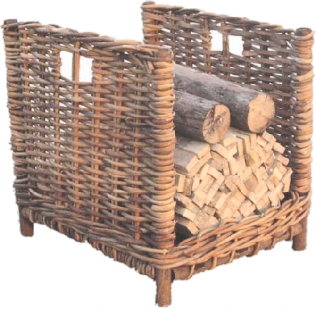Rattan open log basket  -  RR27